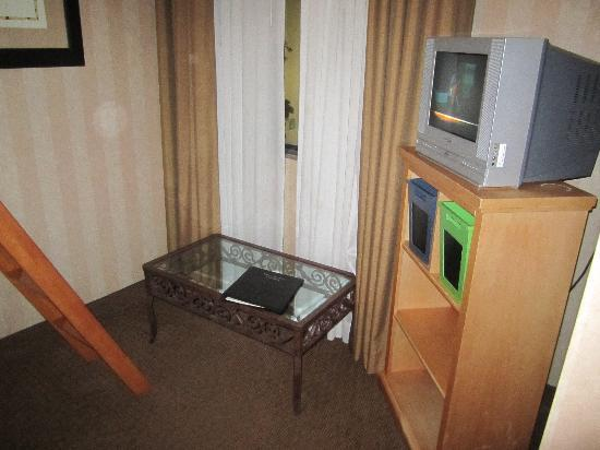Holiday Inn & Suites: Kids TV (the table is from the main room by the sofa sleeper)