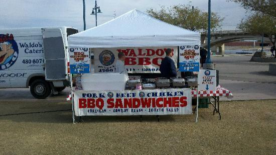 Waldo's BBQ: Our Waldo's Booth can be set up anywhere!