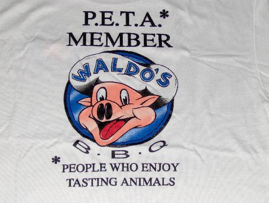 Waldo's BBQ: A little colorful humored T-shirt