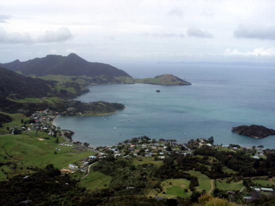 Flutes: View from atop Mount Manaia