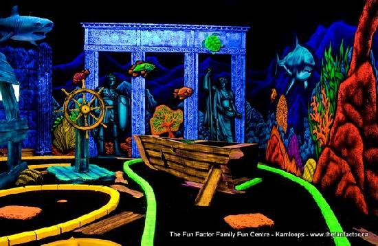 The Fun Factor Family Fun Centre - Pirates Mini Golf & Laser Tag: Pirates Mini Golf
