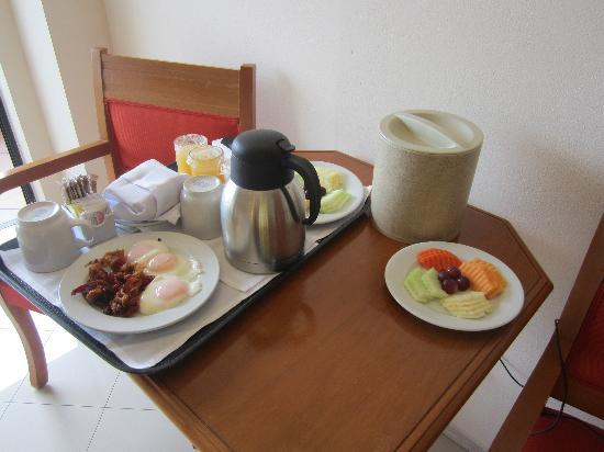 Order room service for breakfast so you don\'t have to go to the mess ...