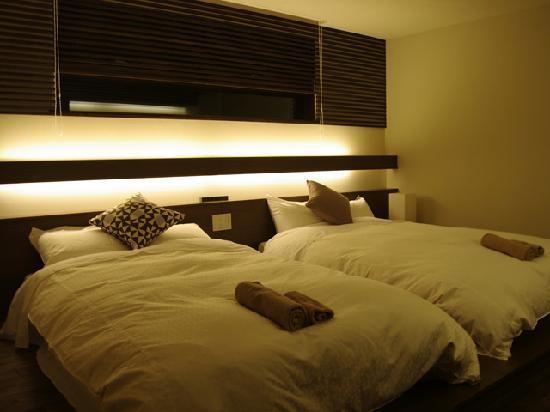 Izumikyo Rental Cottage: ハイクラスコテージのベッドルームの例です。