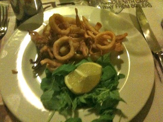Trattoria bausan: la frittura di calamari