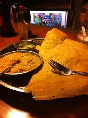 South Ceylon Vegetarian Restaurant: potato dosa