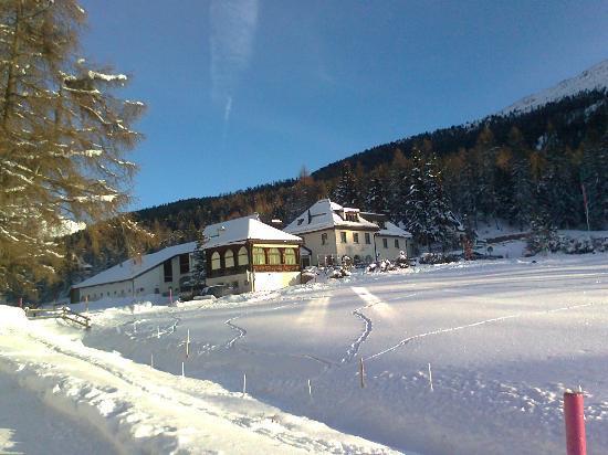 Landgasthof Meierei: veduta invernale dell'hotel