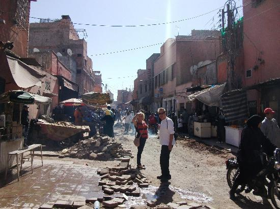 Riad Shaden: Street of a 1000 potholes.