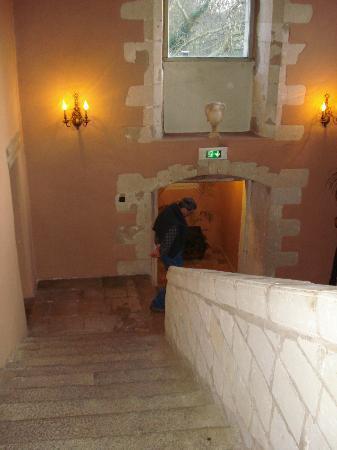 Abbaye de Villeneuve : l'escalier