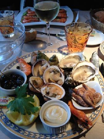 Cote Resto : Assiette de fruits de mer
