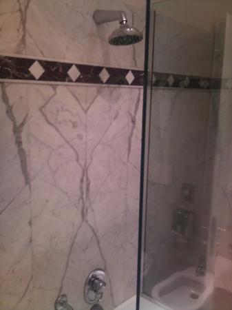 Hotel Flora: Douche dans la baignoire