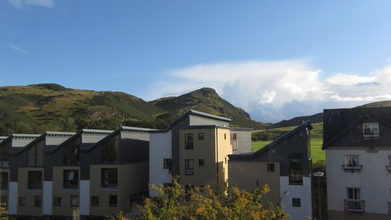 Elderfields Guest House : view from room to Arthur's Seat