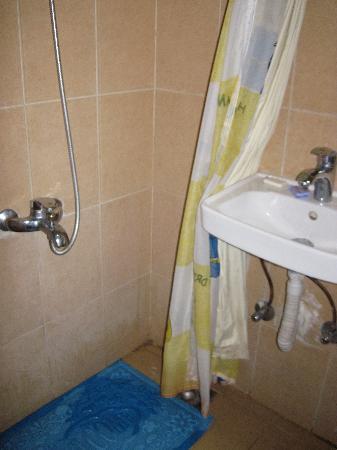 Hotel Transit Alexandria : Very basic shower