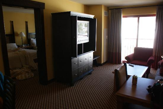 Bear Creek Mountain Resort: main room; bedroom to the left