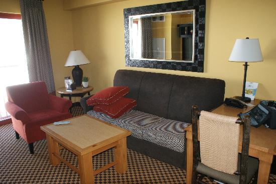 Bear Creek Mountain Resort: sofa and desk in main room