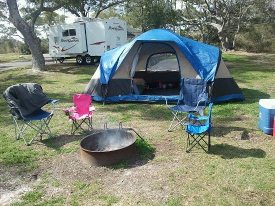 Fort Pickens Campground: campsite