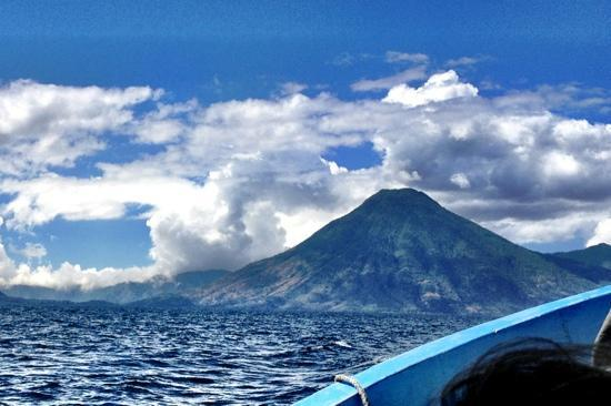 Volcan San Pedro: from the lake
