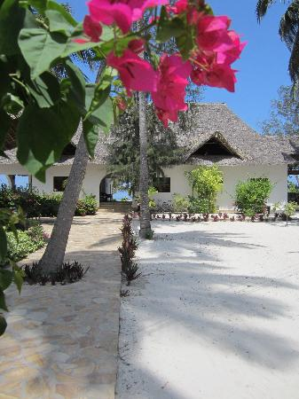 Next Paradise Boutique Resort : View from reception to the main rooms