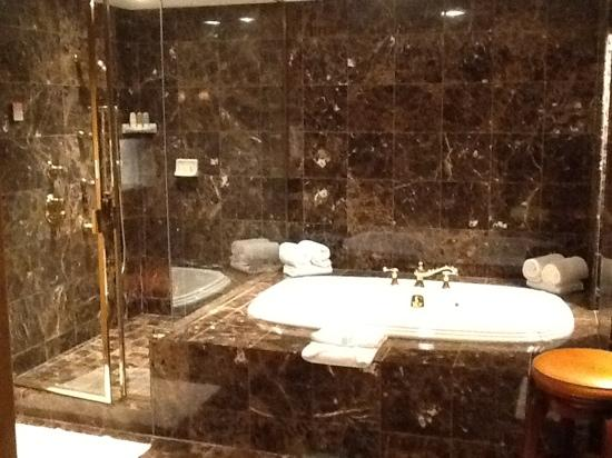 Steam shower and Jacuzzi tub in Presidential Suite - Picture of ...