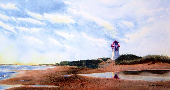 Heather Hannon Island Art Studio: Covehead Lighthouse from the Water, Stanhope, PEI