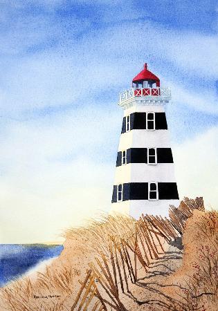 Heather Hannon Island Art Studio: West Point Lighthouse, PEI