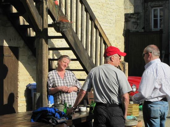 Normandy Beach B & B : After a Long Day of Touring, a pause & a pint