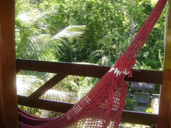 Pousada D'Pillel: Balcon de la habitación con hamaca paraguaya