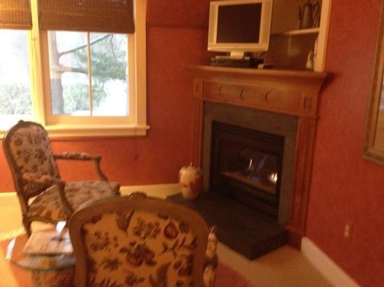Jackson House Inn: fireplace
