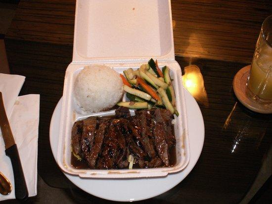 Honokowai Okazuya & Deli : The 12-Ounce Teriyaki Steak from the Honokowai Okuzuya