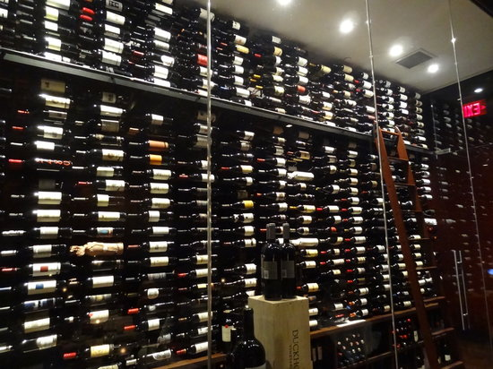 Red, The Steakhouse: Wine room on display