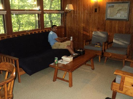Charmant Hanging Rock State Park: Our Cabin Living Room