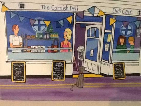The Cornish Deli: Immortalised forever as art