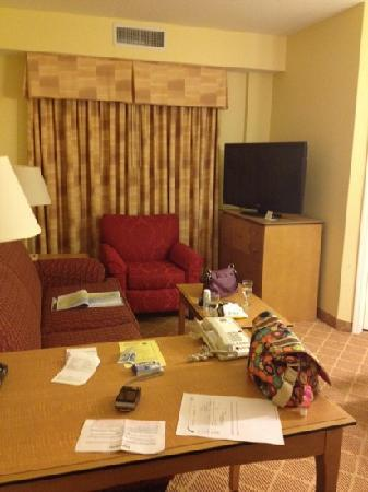Residence Inn Cape Canaveral Cocoa Beach: living room