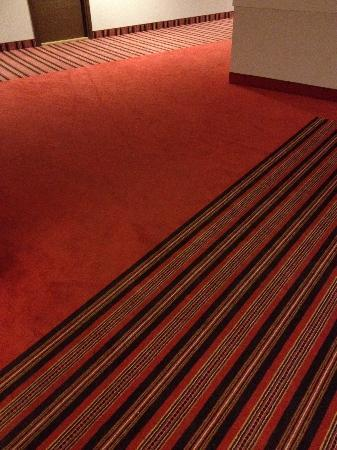 Meriton Old Town Hotel: Estonian motives on carpets in the corridors.