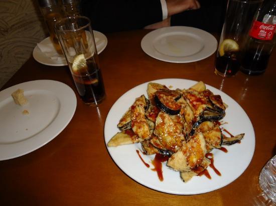 las garrafas: a typical Spanish dish: friend aubergine with honey
