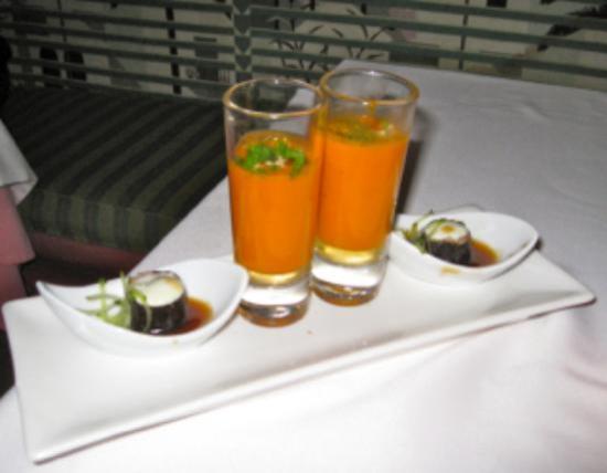 La Alcaria de Ramos : Welcoming Cazpacho aperitif