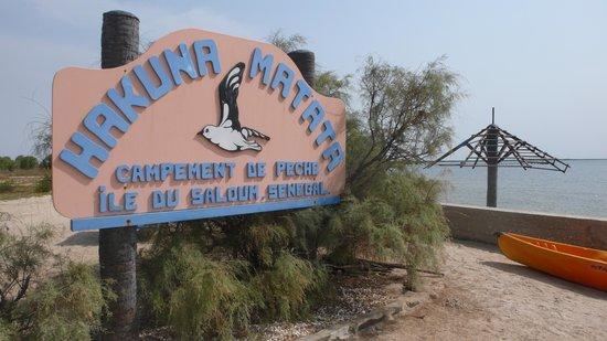 Hakuna Lodge: Entrée côté mer