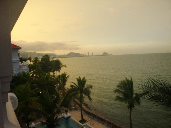 Eastern & Oriental Hotel: View from our suite at sunset