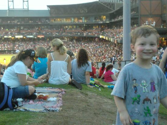 AutoZone Park: View of park from the berm
