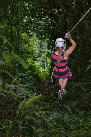 Cabinas Tropicales: Zipline through the Rain Forest!