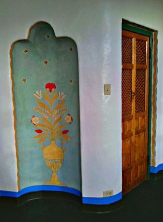 The Hacienda: Odd little alcove in the bed area near the door.