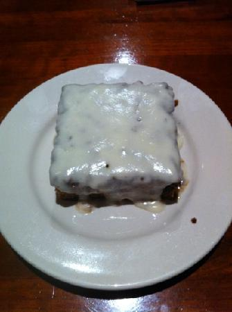 J Alexander's Restaurant: carrot cake with warm cream cheese frosting