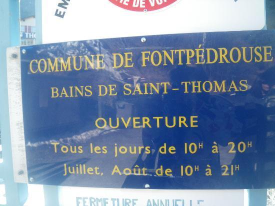 Bains de Saint Thomas au Plancton: enseigne