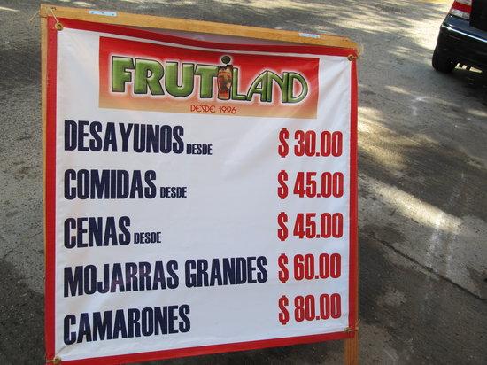 Fruitiland Frutiland : Sign