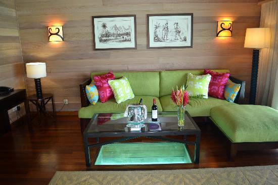 The St. Regis Bora Bora Resort: living room