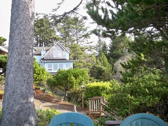 ‪‪Ocean House Bed and Breakfast‬: sitting area overlooking the beach‬