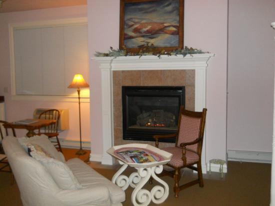 Lodgings at Pioneer Lane: Cozy fireplace