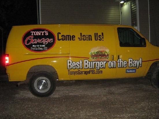 Tony's Garage Van- Best Burgers on the Bay!