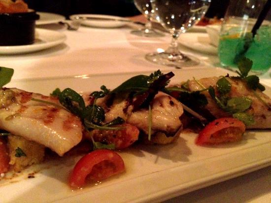 Chef's Table at Kensington Riverside Inn: Grilled Spanish Mackerel w/ baby heirloom tomatoes