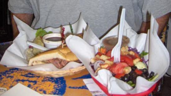 Sebastian General Store : Roast Beef Sandwich & Garden Salad