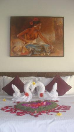 Saba Villas: Honeymoon decoration